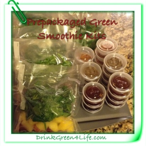 ~Frozen Prepackaged Green Smoothie Kits~