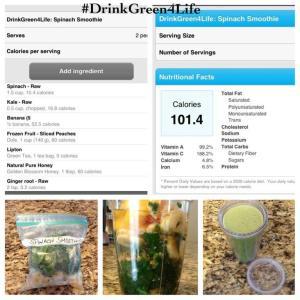 DrinkGreen's 2 Fruit Spinach Smoothie